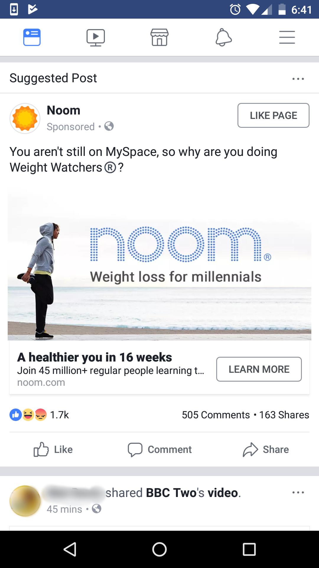 Comparative Advertising on Facebook: Noom Takes on Weight Watchers
